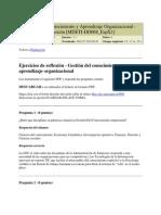 Gestión del Conocimiento y Aprendizaje Organizacional EJ REFLEXION