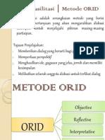 Teknik Fasilitasi │ Metode ORID
