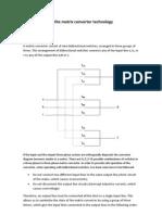 Fundamentals of the Matrix Converter Technology