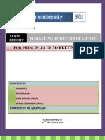 Term Report (Lipton)