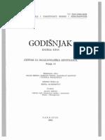 Godišnjak Centra za balkanološka ispitivanja Akademije nauka i umjetnosti BiH [knjiga 26, 1988.]