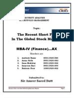 Short Fall in Stock MArkets
