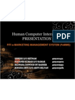 Human Computer Interaction Presentation