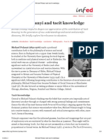 Michael Polanyi and Tacit Knowledge