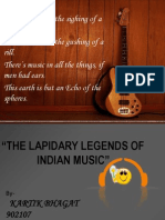 Lapidary Legends of Indian Music
