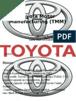 Toyota Motor Manufacturing (TMM)