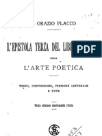 Orazio Epistula Ad Pisones de Arte Poetica