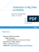 Introduction to Big Data and NoSQL
