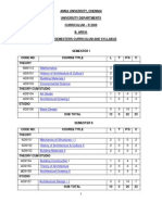 B.arch. I to X Curriculum and Syllabus