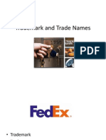 Trademark and Trade Names