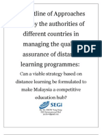 Outline of the Approaches to Manage Distance Education