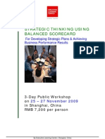 Strategic Thinking Using Balanced Scorecard