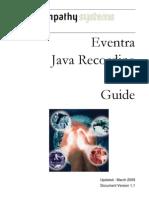 Eventra Java Recording API