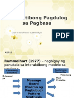 Interaktibong Pagdulog Sa Pagbabasa
