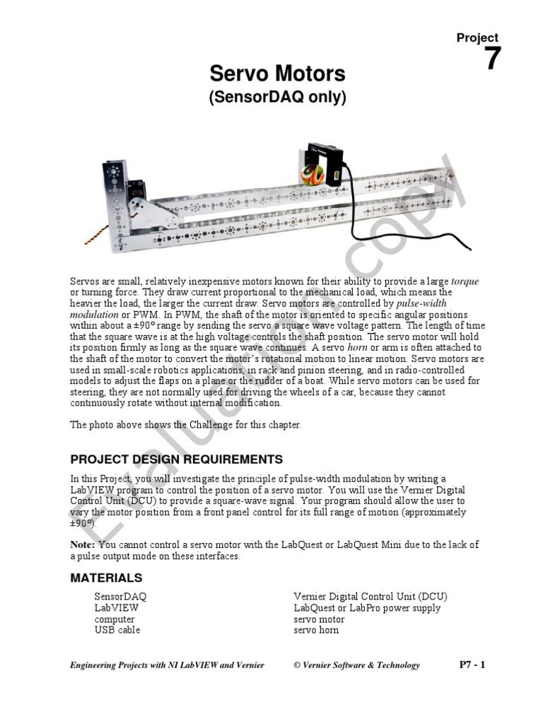 Lesson Plan Servo Motors Servomechanism Power Supply Pulse Width Modulator Circuit Position Can Be Easily
