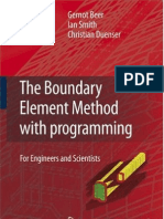 The Boundary Element Method With Programming for Engineers and Scientists
