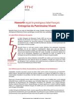CP Haworth Entreprise Du Patrimoine Vivant