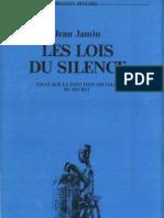JeanJamin-1977 Halshs00376244 Silence