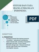 2. Konstitusi Dan Tata Perundang-undangan Indonesia