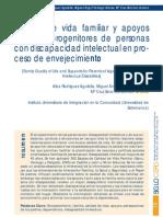 Calidad de vida familiar y apoyos para los progenitores de personas con discapacidad intelectual en proceso de envejecimiento