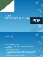 Microsoft Inc. In China