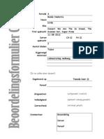 beoordelingsformulier CKV222