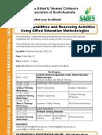 GTCASA Professional Development Flyer