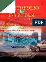 Portfolio Dan Investasi Oleh Teori Dan Aplikasi