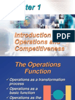 Chap01 - Introduction to Operations and Competitiveness