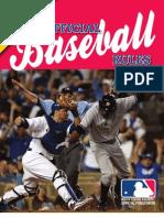 Official MLB Baseball Rules