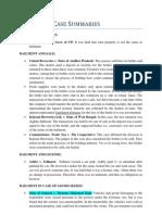 Contracts Case Summaries 1