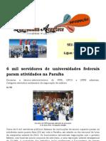 6 mil servidores de universidades federais param atividades na Paraíba