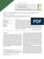Energy Subsidy China