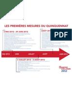 Les premieres mesures de François Hollande