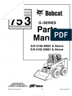 Bobcat 753G Master Parts Catalog | Armed Conflict | Business