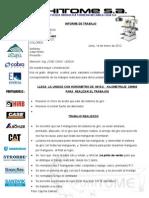 Informe Del Tecco C6G-903 Mangueras Rotas