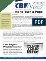 May 2012 KBF Newsletter