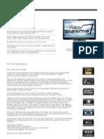 Datenblatt Panasonic TX p50gw30