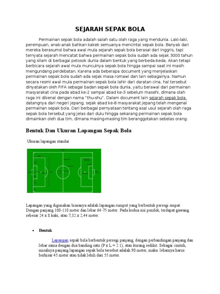9000+ Gambar Dan Jelaskan Ukuran Lapangan Sepak Bola  Terbaik
