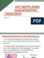 Malignant Neoplasms of the Nasopharynx