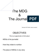 The MDG and the journalists