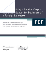 Concordancer in Corpus Linguistics - synopsis empirical research
