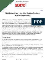R&D Program - Extending Limits of SPS