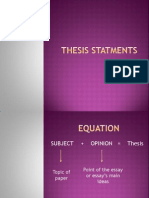 Thesis Statments