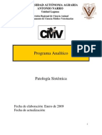 Programa de Patología Sistémica Veterinaria