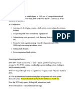 WTO Summary