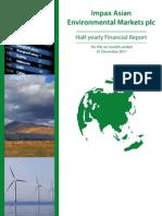 Iaem Half-yearly Report to 31 Dec 2011