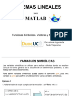 02 MATLAB PGF Funciones Simbolicas,Vectores y Matrices