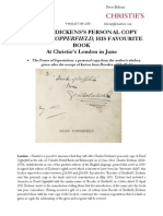 Charles Dickens'S Personal Copy Of David Copperfield, His Favourite Book At Christie'S London In June