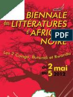 Programme Biennale 2012 VL